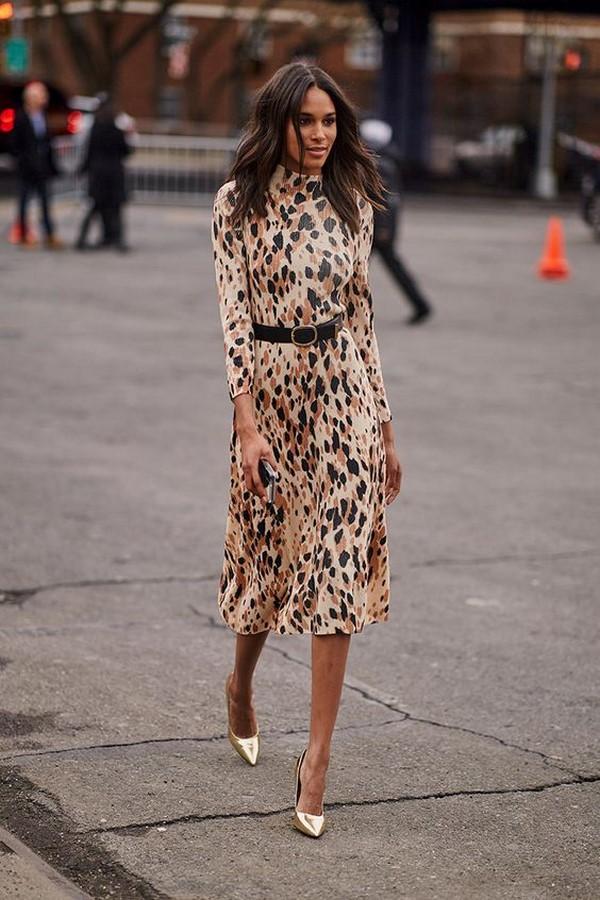 маникюр леопардовое платье с чем носить фото наличии широкий