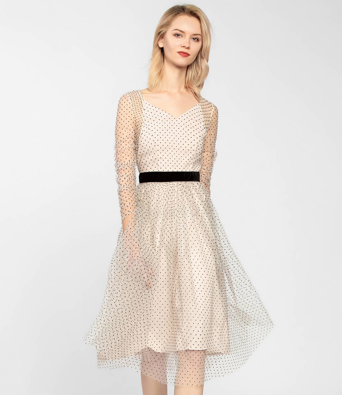 e98306d78f0 Модные платья в горошек — как их носить стильно + фото