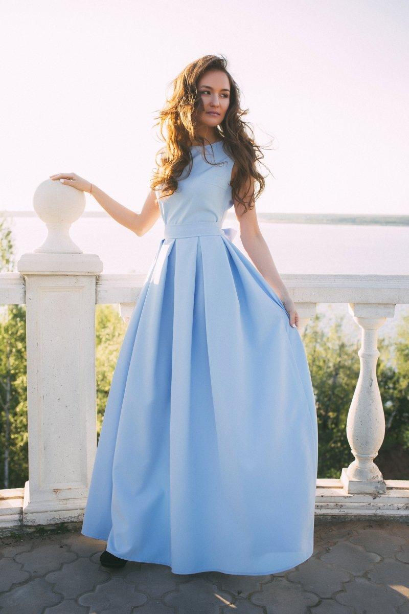 Платье Голубое Фирма