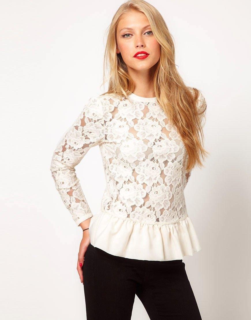 5c409754f58 Кружевные блузки — 50 модных и стильных образов
