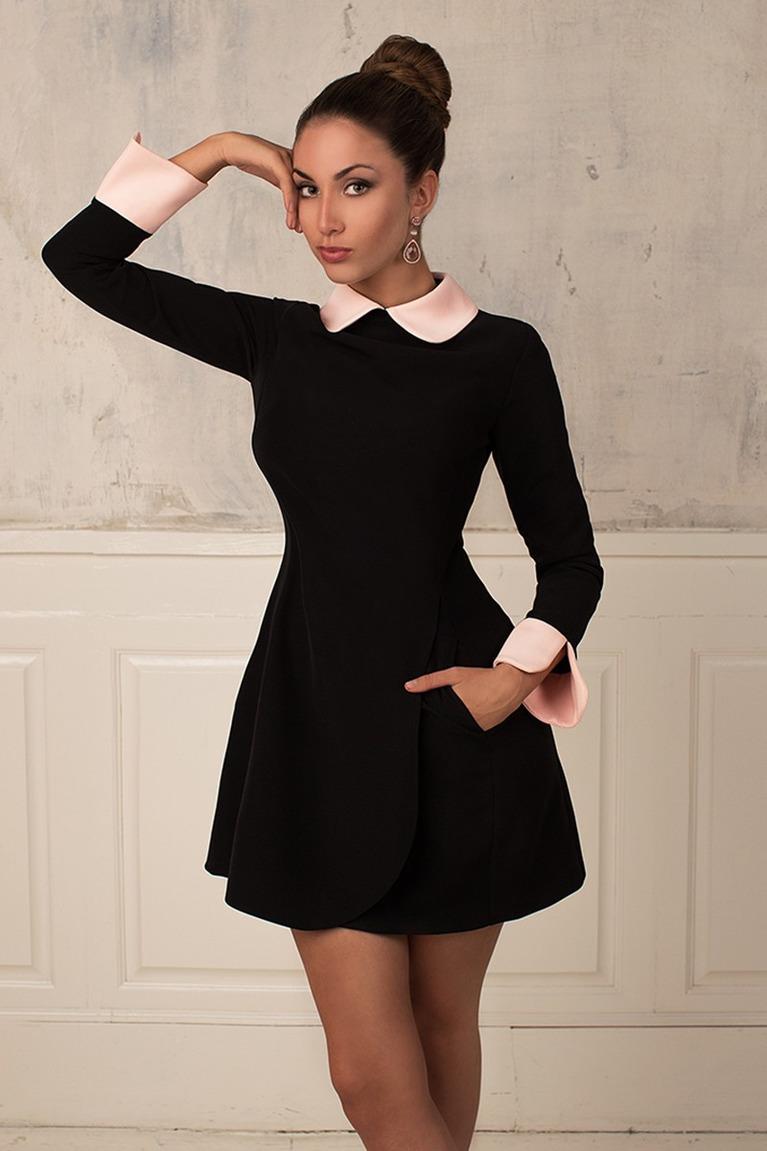 порою, миру картинка черное платье с белым воротником этого нужно