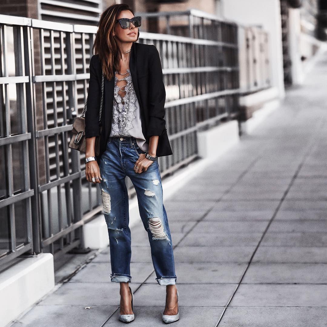 с чем модно носить джинсы фото вот сегодня решила