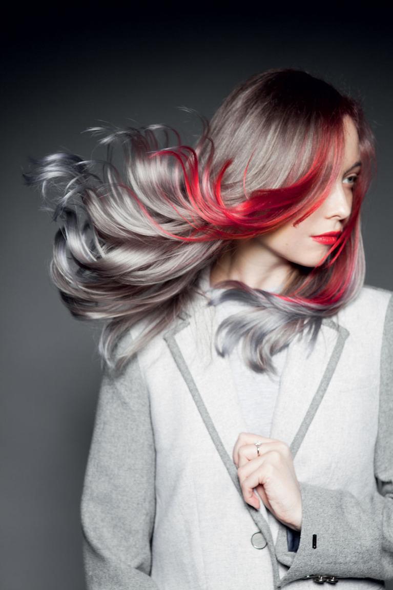 мелирование волос модных цветов колор фото стене