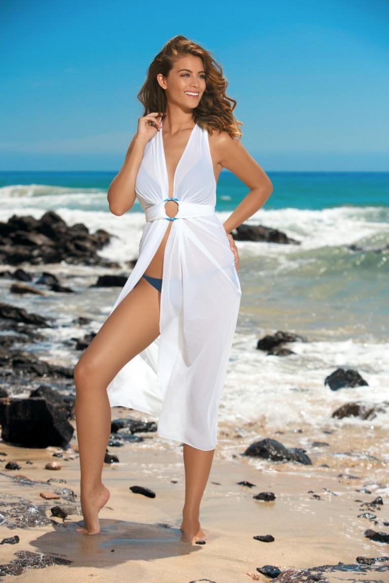пляжная фотосессия в белом также