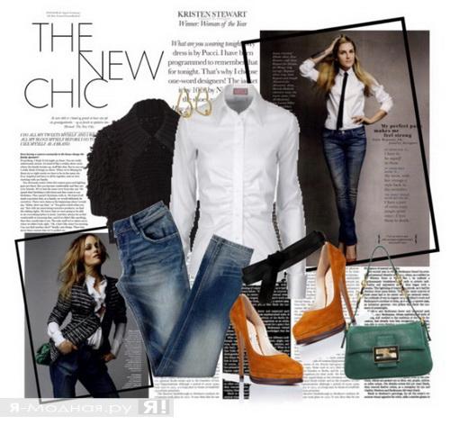 Что носить с джинсами и каблуками