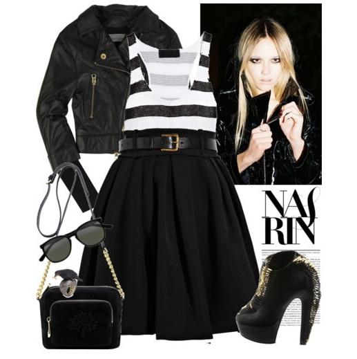 С чем и как носить черную юбку