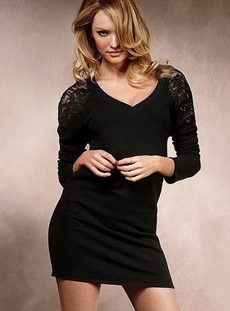 Платье черное узкое короткое