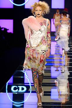Накидки из меха - Dior