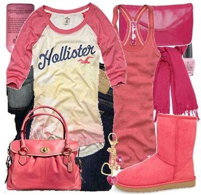 Розовые угги