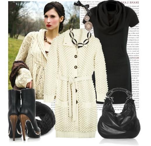 Вязаные пальто и кардиганы