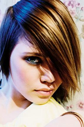 Стрижки на средние волнистые волосы боб каре 148