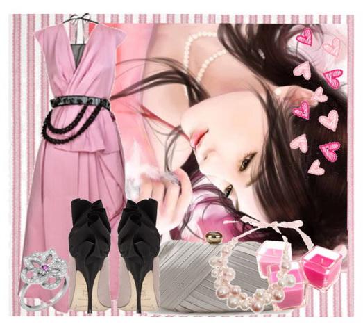 Розовые платья - фото