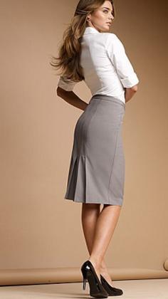 Фото телок в юбках с разрезом с зади фото 82-553
