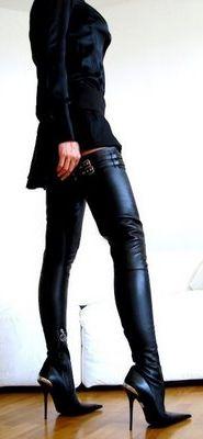 Ботфорты - уличная мода