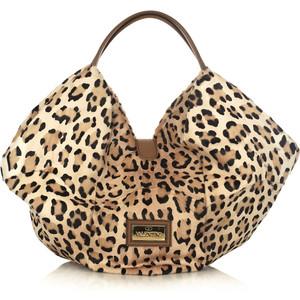 Бежевая сумка леопард
