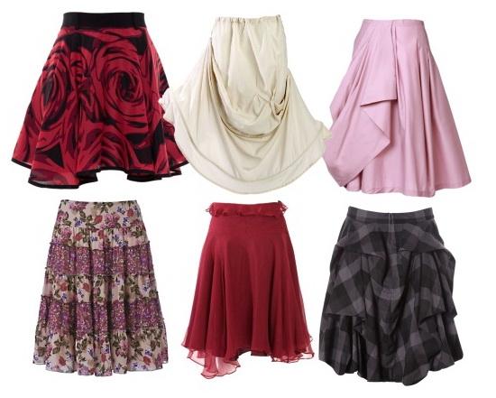 Все виды юбки солнце
