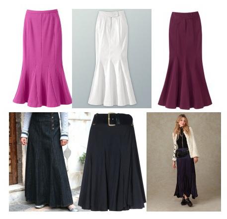 Модели юбок: юбка годе
