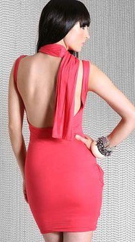 Коктейльное платье с открытой спиной