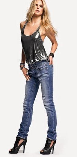 С чем носить джинсы днем и вечером