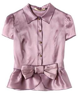 атласная блузка - фото