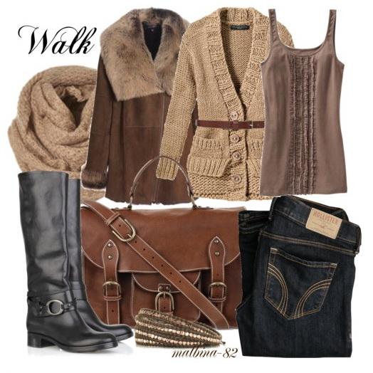 Теплая зимняя одежда - длинный мех, овчина, шерсть и пух