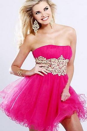 Красивые пышные короткие платье