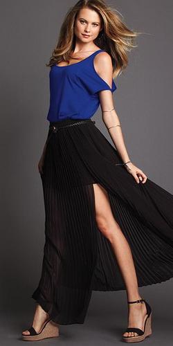 Модная длинная юбка 2012