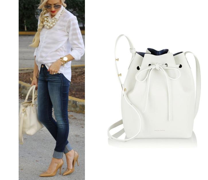 Белая сумка фото