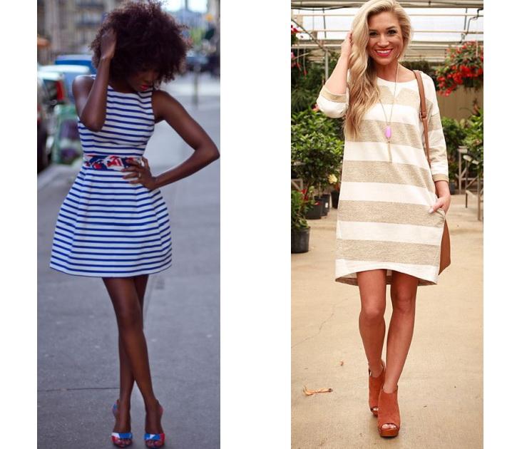 Платье полосатое
