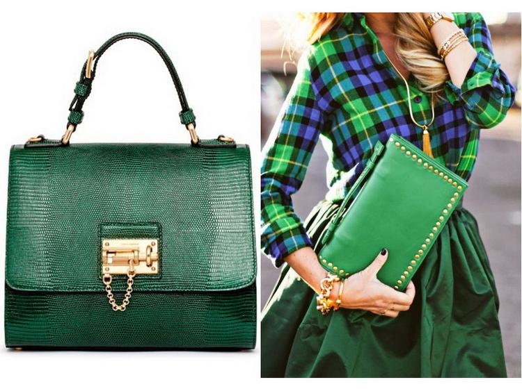 Модные сумки 2017 зелёные