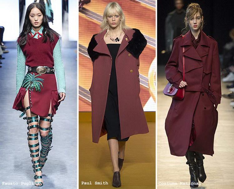 Какие цвета модны зимой 2017 2