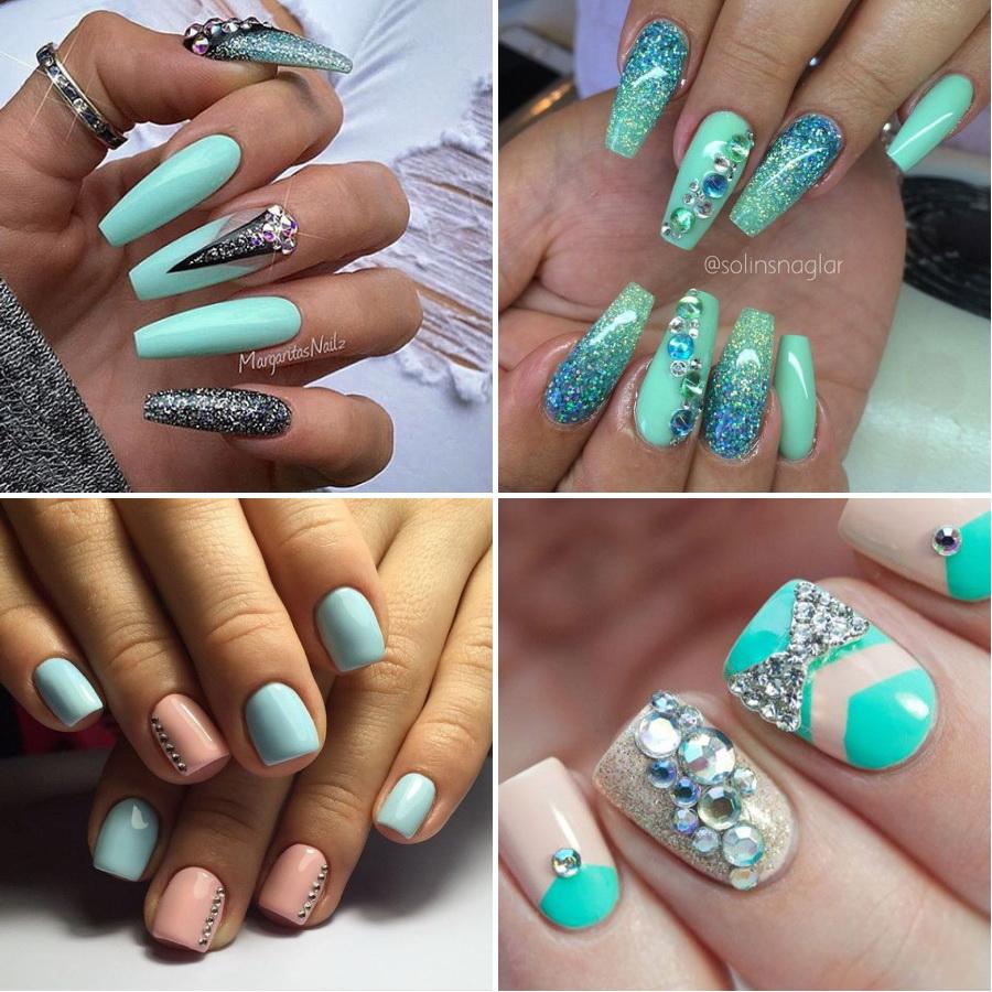 Стразы на ногтях варианты