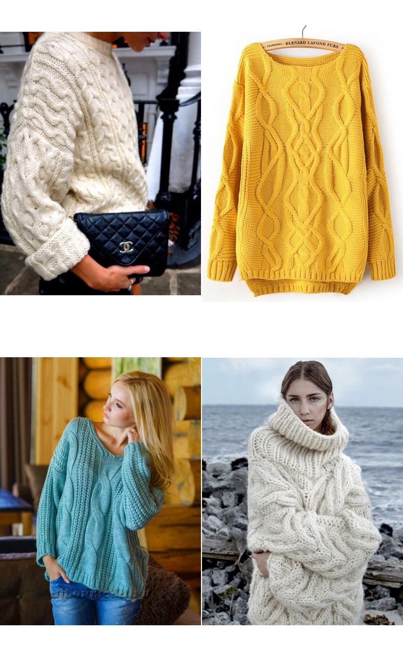 Вязаные Пуловеры Модные