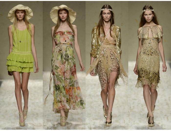 Модные комбинированные платья модные