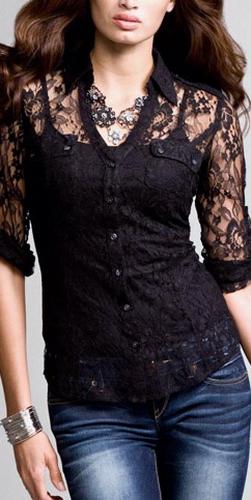 Блузки С Кружевом Фото В Омске