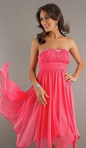 Короткие платья на выпускной цвет