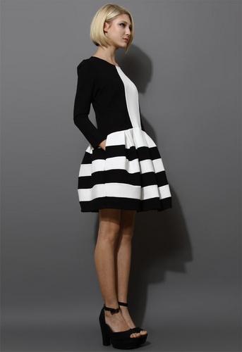 черно белые платья с подиумов фото