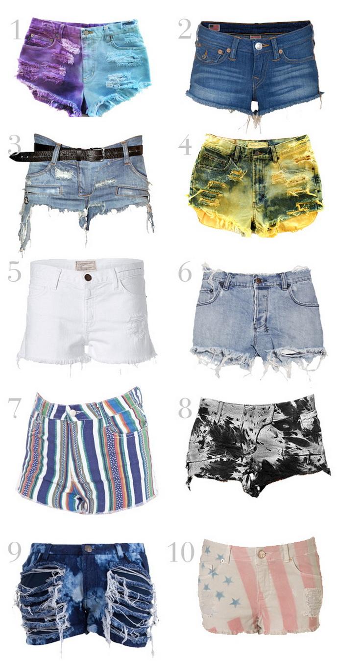 Как старые джинсы сделать модными шортами