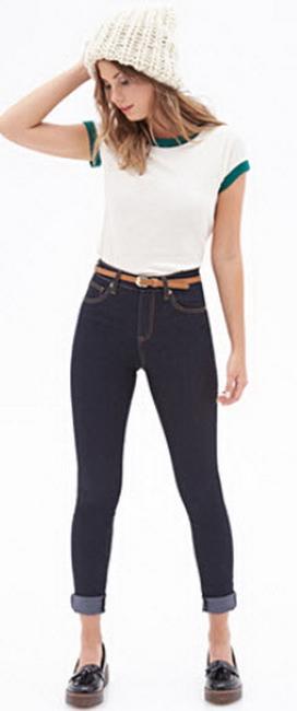 Высокие джинсы доставка