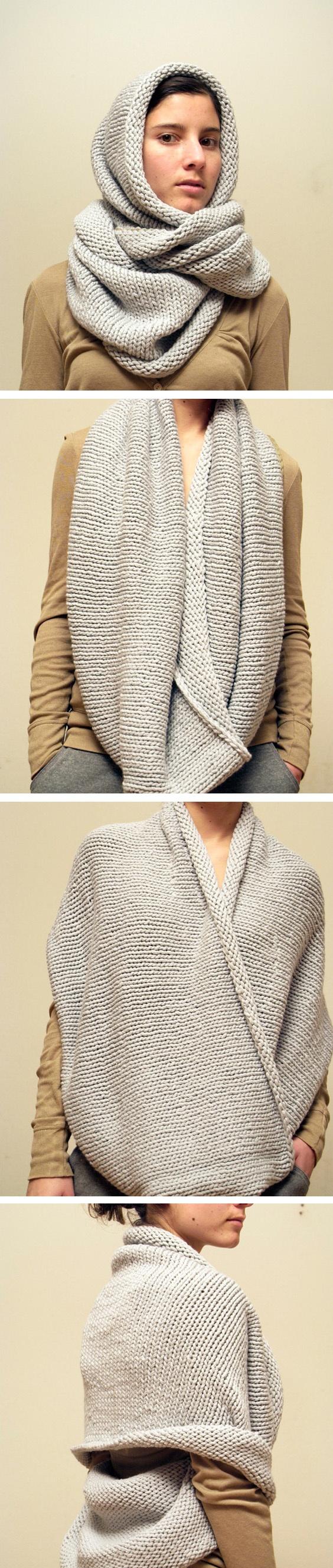 Как правильно вязать шарф