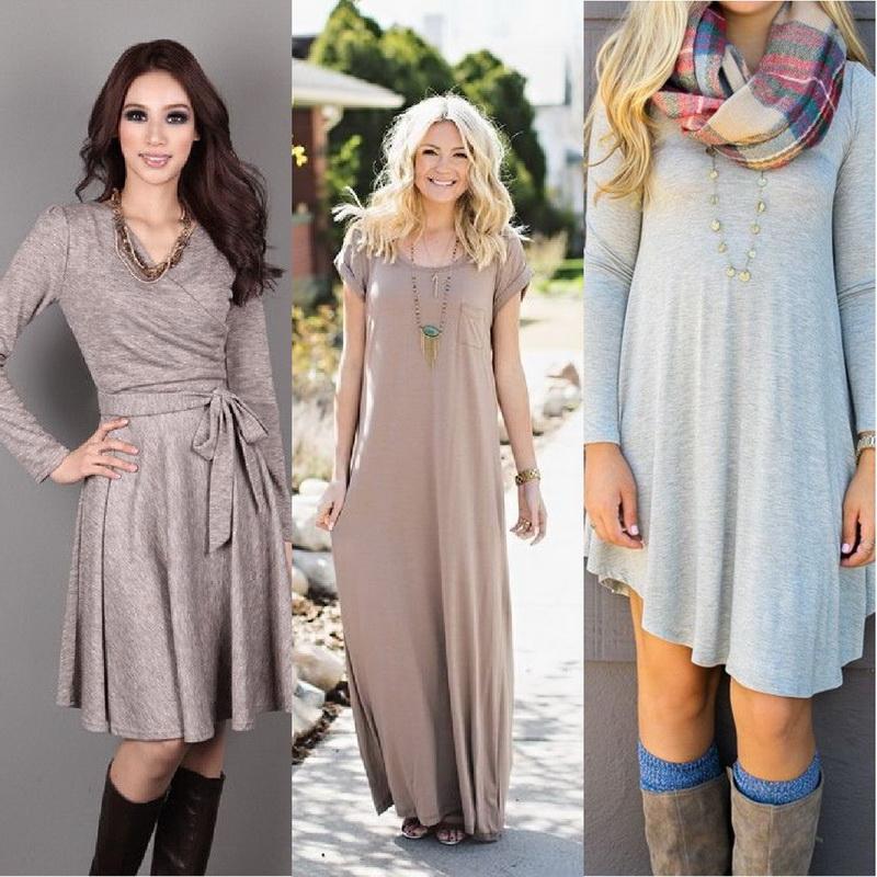 осенние платья фото на каждый день