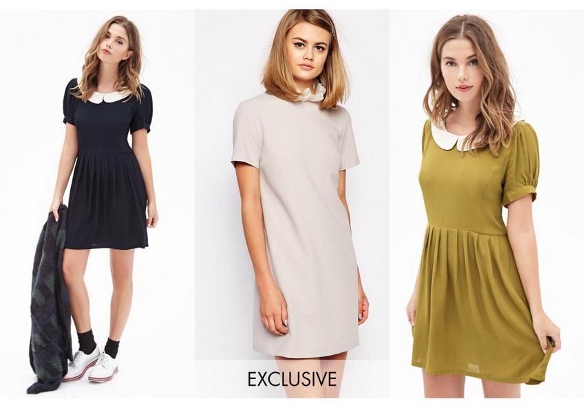 Модные платья с воротником с фото