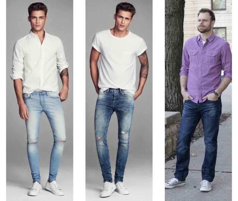 Классические джинсы мужские с чем носить