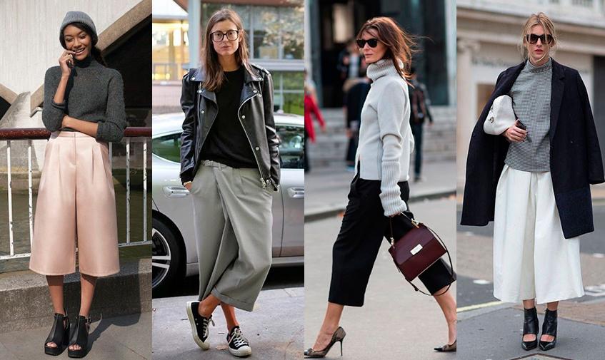 Юбки брюки с чем носить